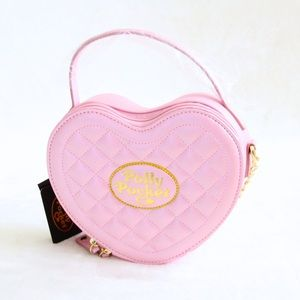 Polly Pocket Quilted Heart Crossbody Bag